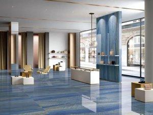 博德瓷砖新品「格兰云天」 蓝色系瓷砖产品图