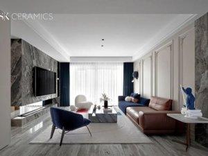 燊科瓷砖开放式大平层装修案例效果图