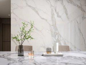 通利大理石瓷砖 流光雪影无限连纹系列产品效果图